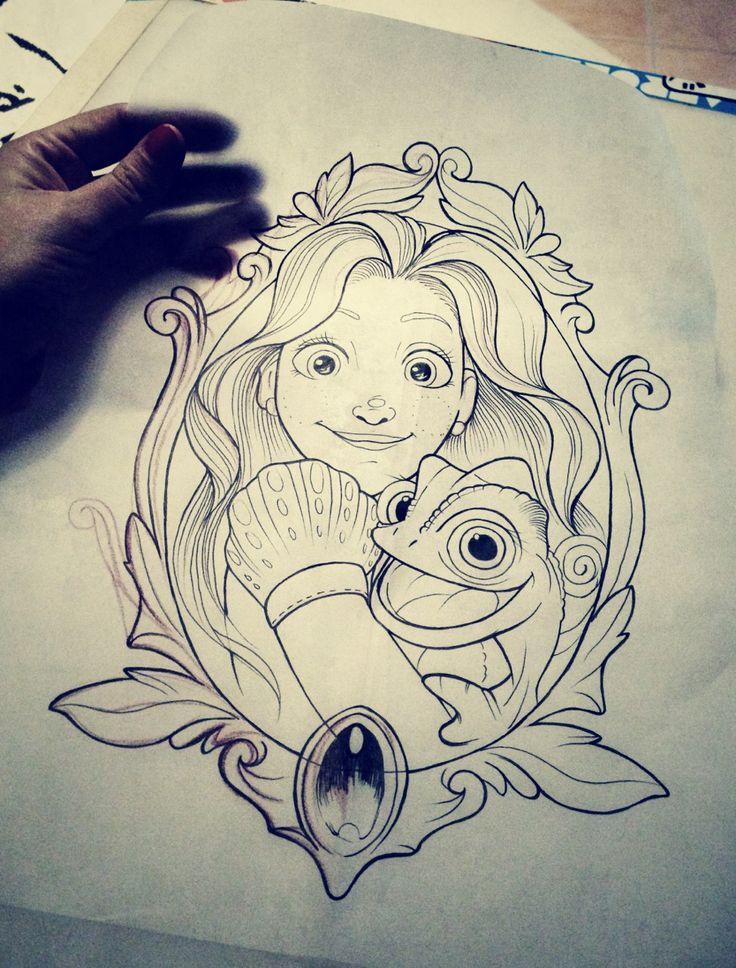 disney tattoos sketch