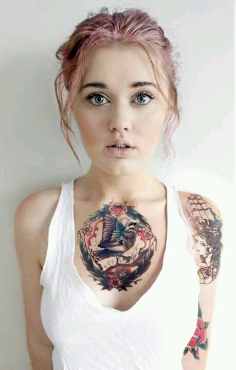 middle chest tattoos