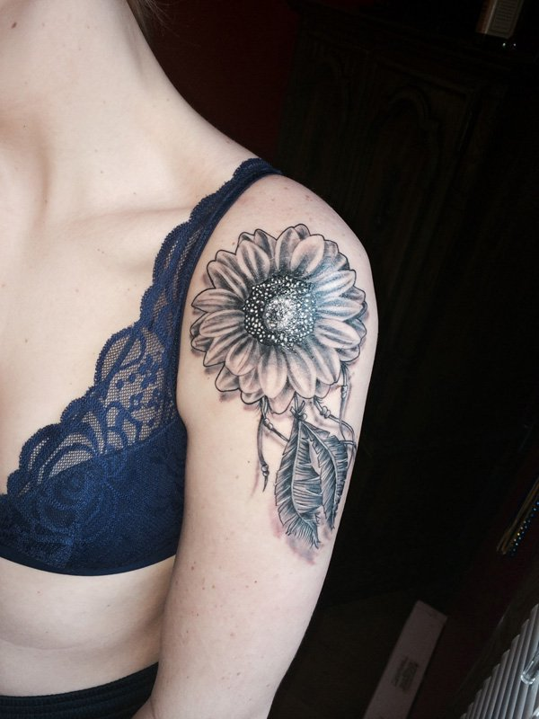 75 Sunflower Tattoos Designs - Mens Craze