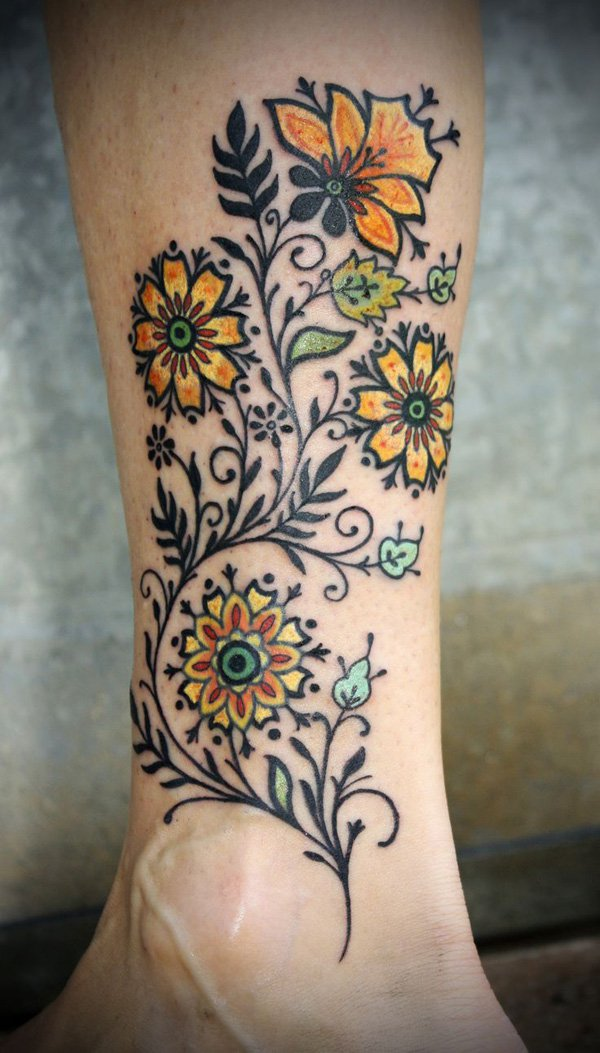 74 gorgeous flower tattoos design mens craze
