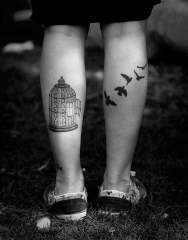 bird leg tattoos
