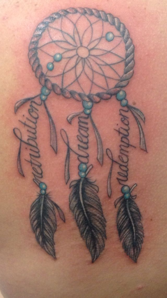 family dream catcher tattoo