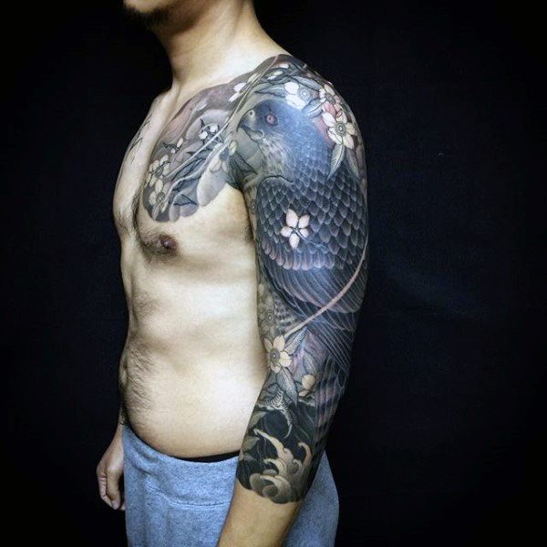 Tattoo Quotes Hawk: 70 Exceptional Shoulder Tattoo Designs