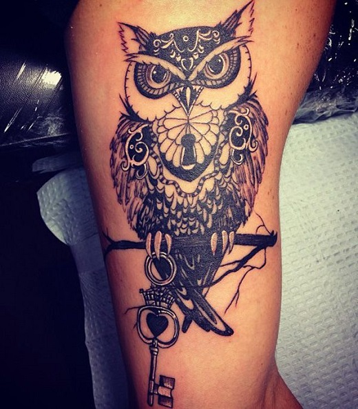 owl tattoo key