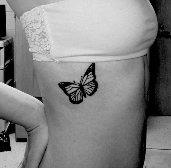 butterfly tattoos ribs