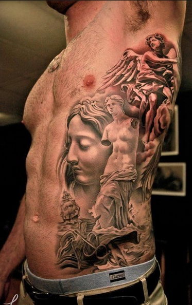 side chest tattoos