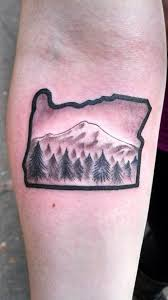 oregon mountain tattoo