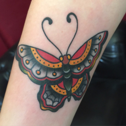 traditional butterfly tattoos