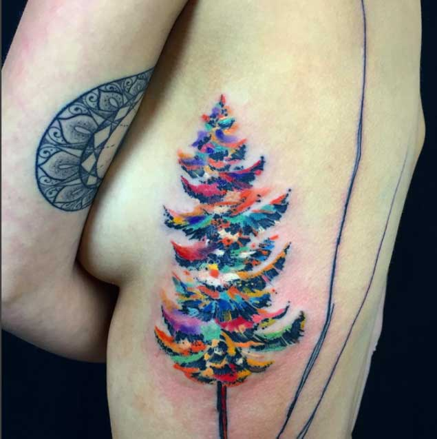 Christmas Tree Tattoo Designs.76 Tree Tattoos Ideas To Show Your Love For Nature Mens Craze