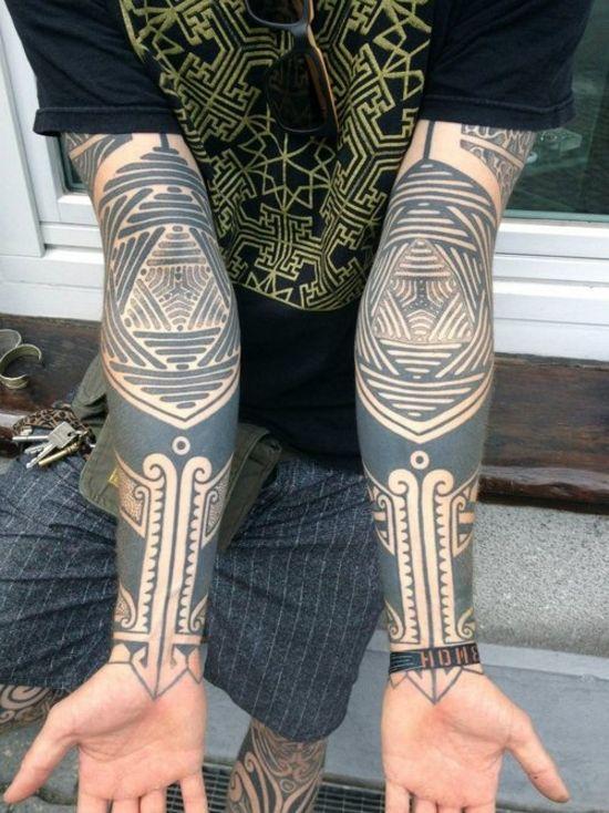 matching tribal tattoos
