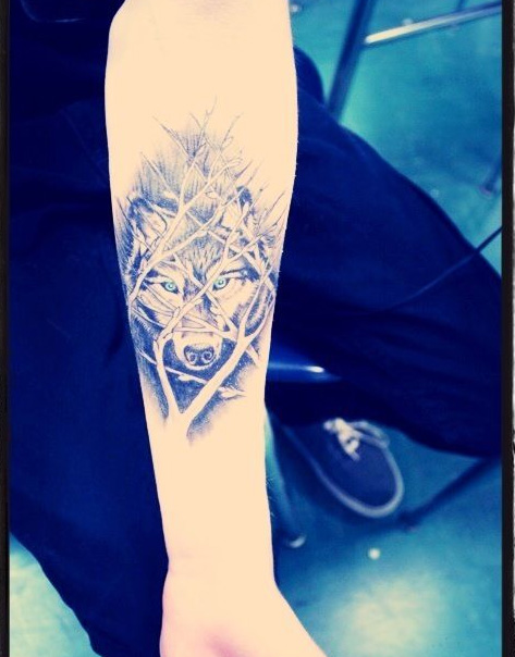 cute wolf tattoo