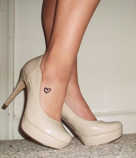 foot heart tattoos