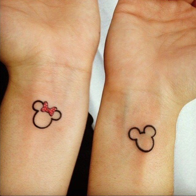 couples disney tattoos