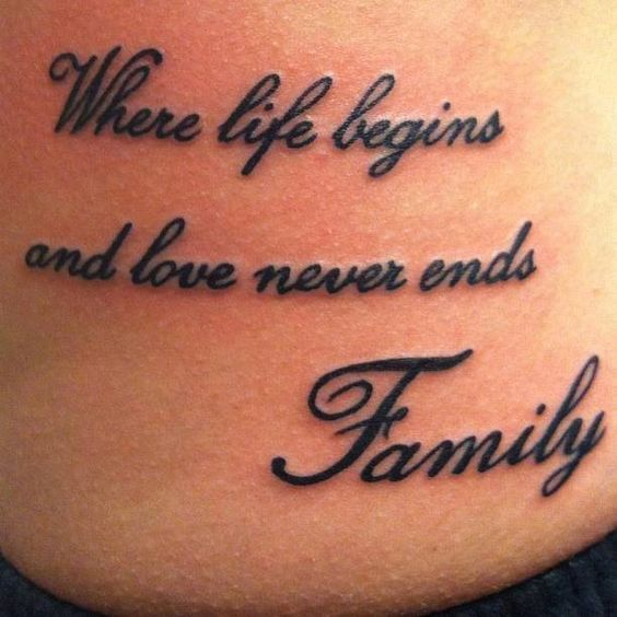 family tattoos with quotes